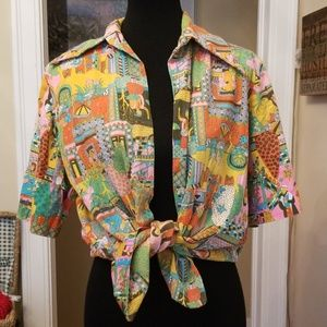 VTG Amazing Funky Buttondown Top!